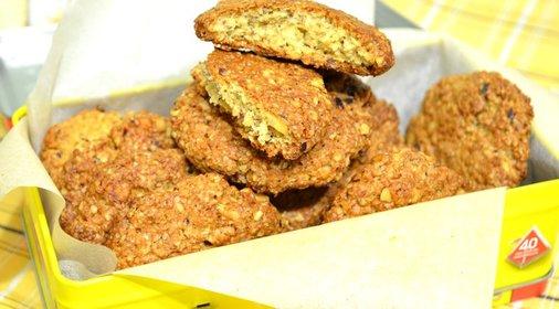 Печенье из геркулесовых хлопьев рецепт с фото