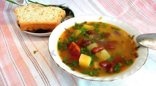 Фасолевый суп мясом в мультиварке рецепты
