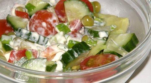 Фото салатов с майонезом