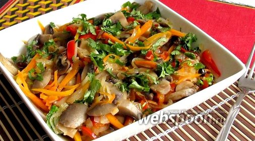 Шампиньоны по корейски рецепт с фото