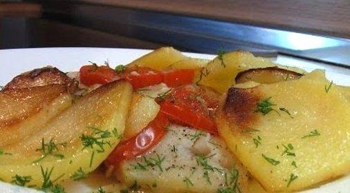 Рецепт камбалы с картофелем