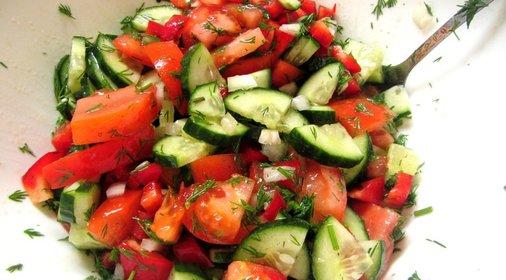 Салат из овощей рецепты с фото