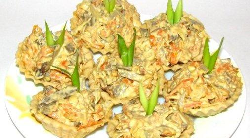 Салаты с печенью и морковкой рецепты с