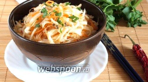 Капуста по корейски пошаговый рецепт с фото