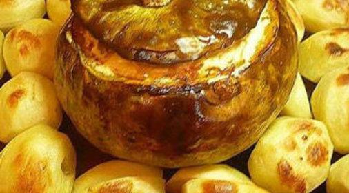 Картошка с грибами в тыкве