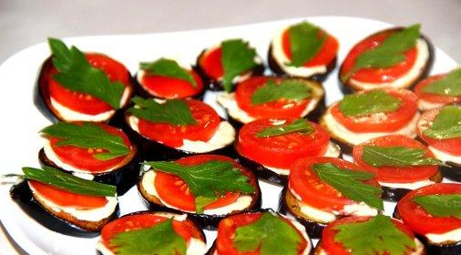 Холодные закуски из баклажанов с фото