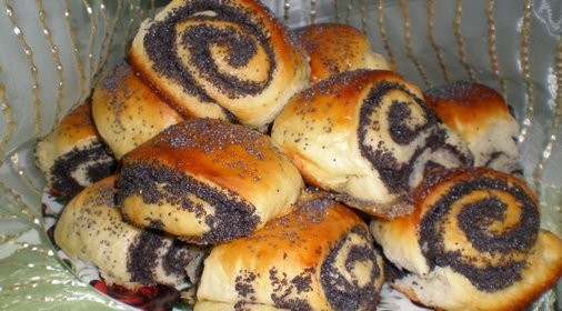 дрожжевые булочки маком рецепт фото