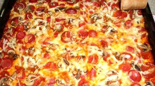 пицца рецепт в домашних условиях без колбасы и сыра