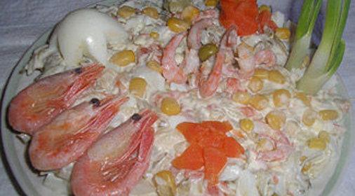 Салат морское дно с фото