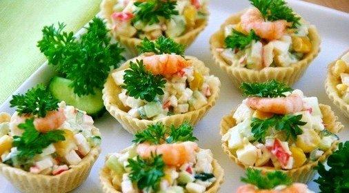 Салатики для тарталеток фото